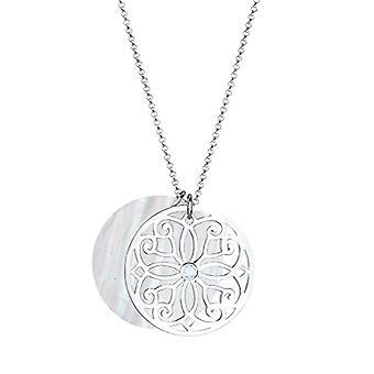 Elli Halskette mit Silber Frau Anhänger 925 - Topazio weiß - 70 cm