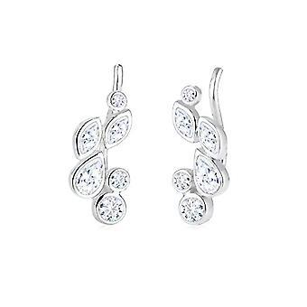 Elli Earrings women's pin in Silver 925 with White Zirconium Oxide 0.024ct