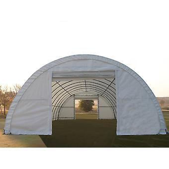 Rundbogenhalle 9,15x12x4,5m, PVC, Weiß