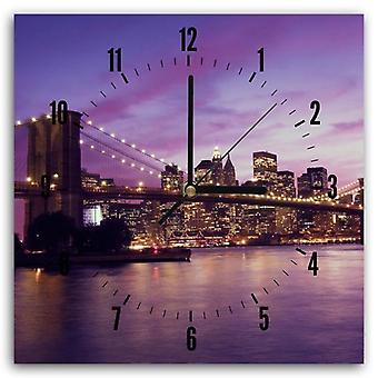 Reloj decorativo con imagen, la ciudad