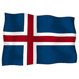 Sticker Autocollant Drapeau Exterieur Vinyle Voiture Moto Islande Islandais