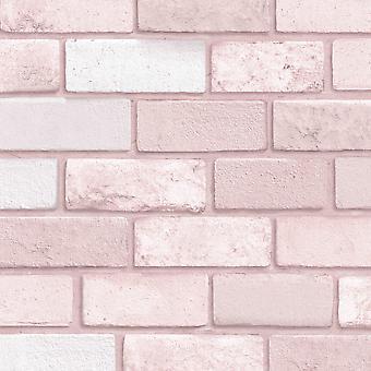 Diamant tegel tapet rosa Arthouse 260005