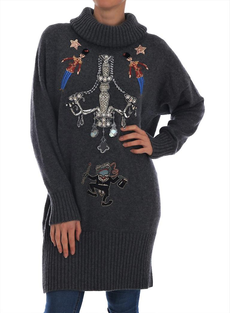 Fairy Tale Crystal Gray Cashmere Sweater