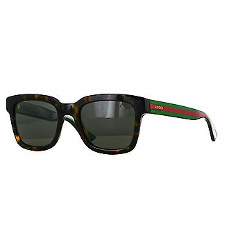 Gucci GG0001S 003 Havana-Green/Grey Sunglasses