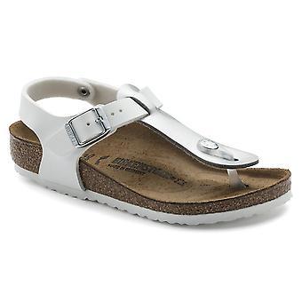 Birkenstock Kids Kairo BF Sandal 1008129 Soft Met Silver White NARROW