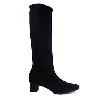 Peter Kaiser Ofela Navy Suede Leather Womens Pull On Knee High Boots