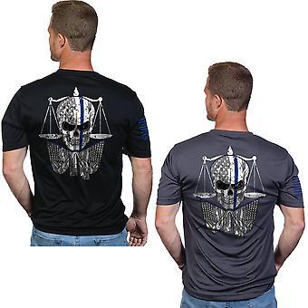 Nine Line Apparel TBL Skull Moisture Wicking Short Sleeve T-Shirt