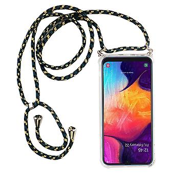 Phone Chain for Samsung Galaxy A50 - Smartphone Necklace Case with Band - Cord with Case to Hang In Camouflage