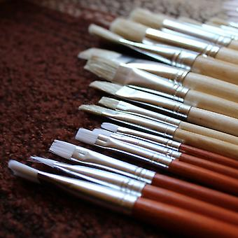 24 Artist Paintbrush Set| Large Artist Brush Set in a Linen Bag| Ideal for Use with Oil Acrylic or Watercolors. Best Equipment for Beginners and Pros
