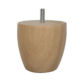 Pyöreä puinen huonekalujalka 8 cm (M8) (1 kpl)