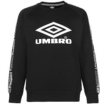 Umbro Mens Gents Taped Crew Neck Long Sleeve Tonal Stitching Sweater Top