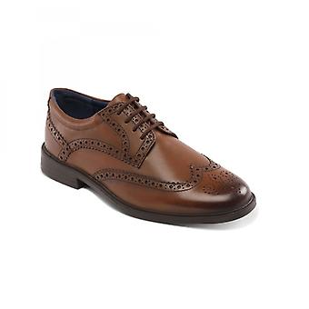 Padders Berkeley Mens Leather Wide (g Fit) Brogue Shoes Tan