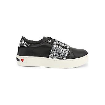 Love Moschino - shoes - sneakers - JA15123G18IF_0000 - ladies - black,silver - EU 36