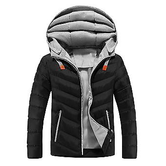 Allthemen Men 's Solid Hodded Coat Winter Warm Slim Fit Outwear Hoodies Allthemen Men 's Solid Hodded Coat Winter Warm Slim Fit Outwear Hoodies
