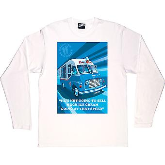 """Morecambe And Wise """"Ice Cream Van"""" White Long-Sleeved T-Shirt"""