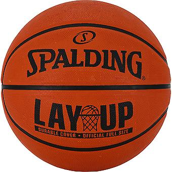 Spalding NBA Layup Outdoor Recreational Rubber Basketball Ball Orange