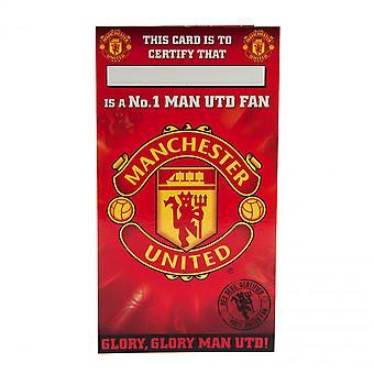 Manchester United FC No 1 Fan Birthday Card
