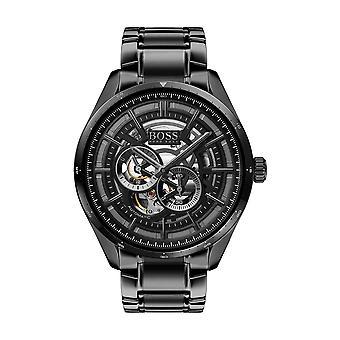 Hugo Boss Watch 1513750-Grand Prix myota automatisk tilfælde sort stål sort stål rem sort stål armbånd mænd