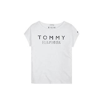 Tommy Hilfiger Girls Tommy Hilfiger Girl's White Foil Print T-shirt