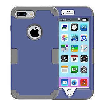 Til iPhone 8 PLUS, 7 PLUS sag, Modish Triple Layer Armour holdbart cover, mørkeblå