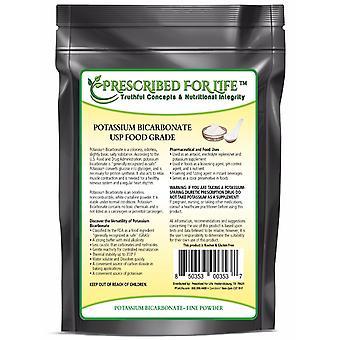 Potassium Bicarbonate - Natural USP Food Grade Crystalline Powder - 39% K