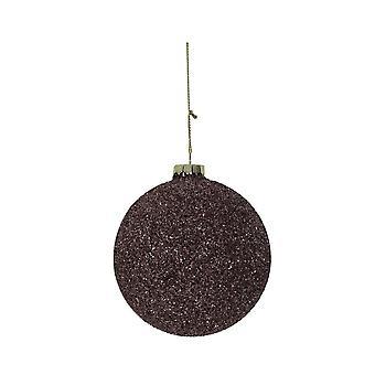 Lys & Levende Christmas Bauble Runde 10cm Ball Glass Mørk Rød Lilla Gli