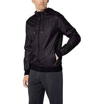 Starter Men's Windbreaker Jacket,  Exclusive, Black, Medium