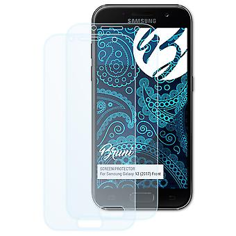 Bruni 2x Screen Protector compatible with Samsung Galaxy A3 (2017) Front Protective Film
