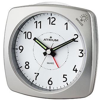 ATRIUM Väckarklocka Analog kvarts silver A251-19 utan att ticka med ljus och snooze