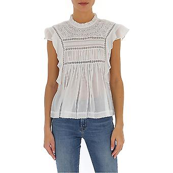 Isabel Marant ÉToile Ht110320p063e20wh Women's White Cotton Top