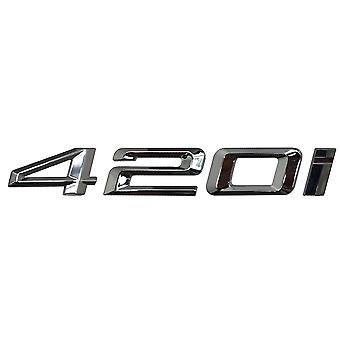 Silver Chrome BMW 420i Car Model Rear Boot Number Letter Sticker Decal Badge Emblem For 4 Series F32 F33 F36 G22 G23 G26