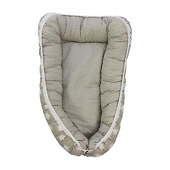 Babynest Finja, grå, 105x60cm