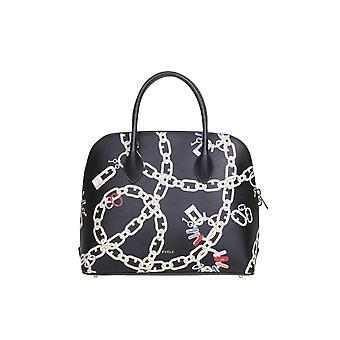 Furla 1065949 Women's Black Leather Handbag
