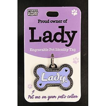 Wags & Whiskers Pet Identity Tag - Lady