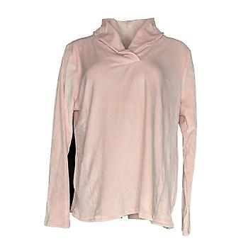 Cuddl Duds Women's Pajama Top Ultra Plush Velvet Light Pink A369296