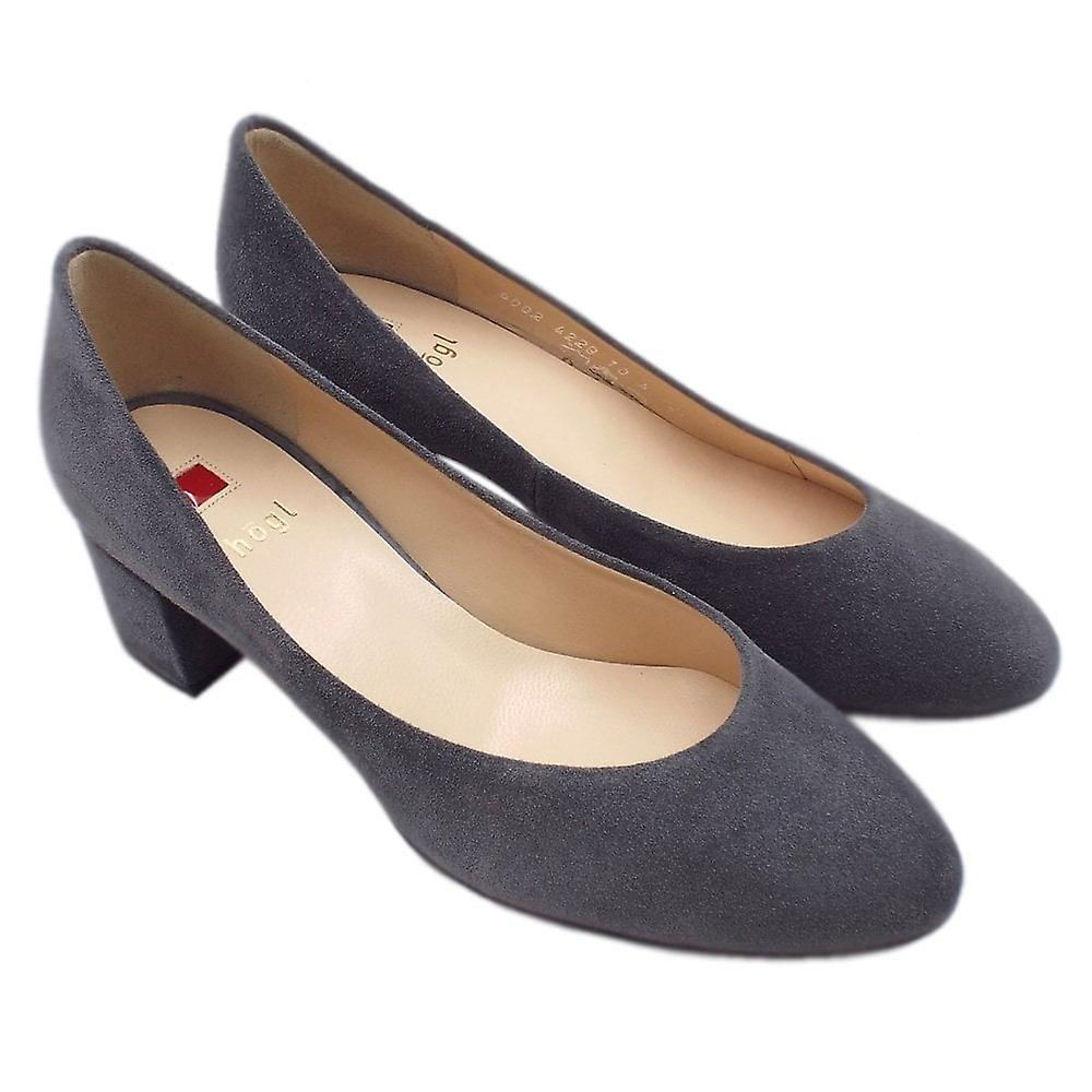 Högl 6-10 4002 Studio 40 Classic Court Shoe In Dark Grey Suede
