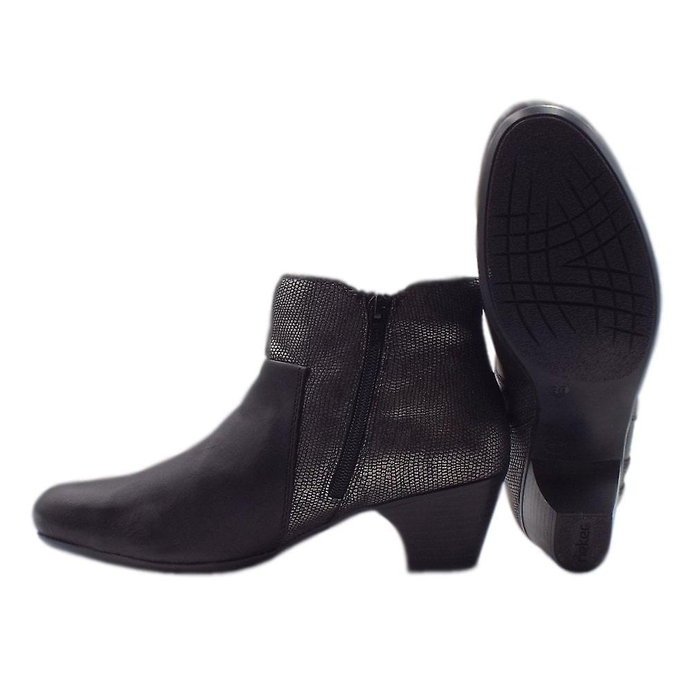 Rieker 70571-00 Fashion Ankle Boots In Black