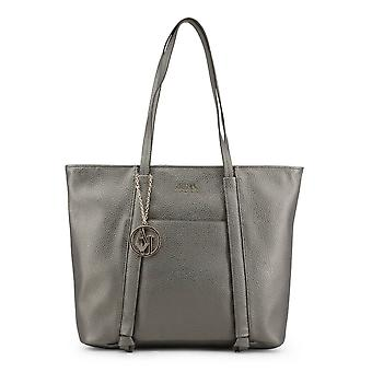Armani Jeans Original Women All Year Shopping Bag - Grey Color 34288