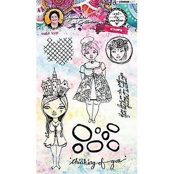Studio Light Stamp Girlie Style Art door Marlene 3.0 nr.37 STAMPBM37