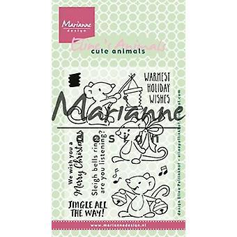 Marianne Design Clear stamp Eline's Christmas mice EC0174 10,5 x 18 cm