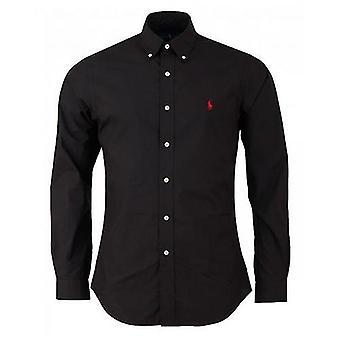 Polo Langarm Ralph Lauren Slim Baumwoll-Popeline-Shirt