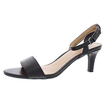 Naturalizer Womens Hattie läder öppen tå speciellt tillfälle Slingback sandaler