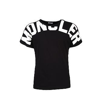 Moncler 8c70710v8094999 Women's Black Cotton T-shirt