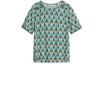 Sandwich Clothing Green Patterned Blouse