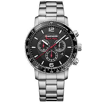 Wenger Roadster Chronograph Black Dial Stainless Steel Bracelet Men's Watch 01.1843.103 RRP £245