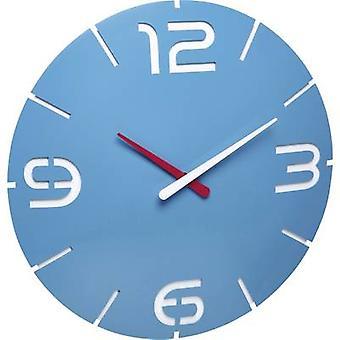 TFA Dostmann 60.3536.14 Radio Wall clock 35 cm x 3.5 cm Sky blue