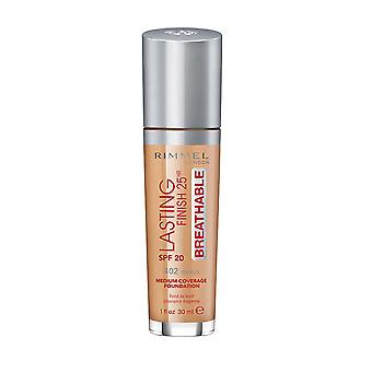 Rimmel London Lasting Finish Foundation Cobertura Media 25Hr SPF20 30ml Bronce #402