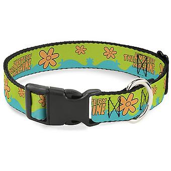Scooby Doo 1 Inch Wide 11-17 Inch Dog Collar