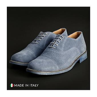 SB 3012 - Shoes - Lace-up shoes - 1003-CAMOSCIO-B-JEANS - Men - lightblue - EU 40