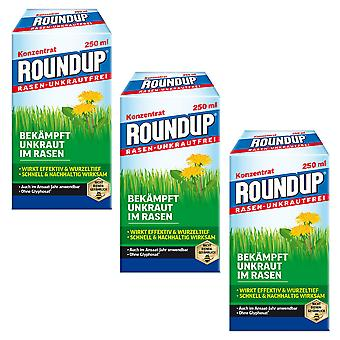 Sparset: 3 x ROUNDUP® Lawn Weed-Free, 250 ml